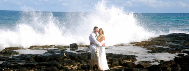 Wedding Photo on Kauai Beach